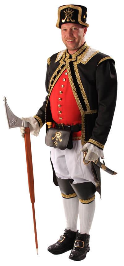 Horník v tradiční uniformě